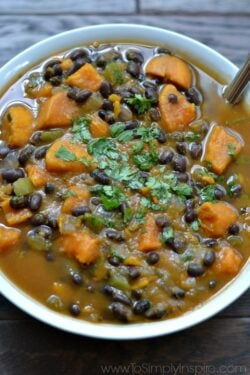 Sweet Potato and Black Bean Soup