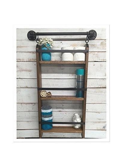 bathroom-ladder-shelf