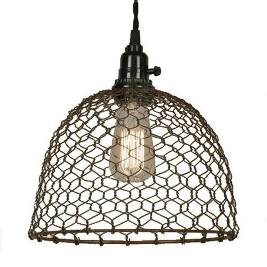 chicken-wire-dome-pendant-light