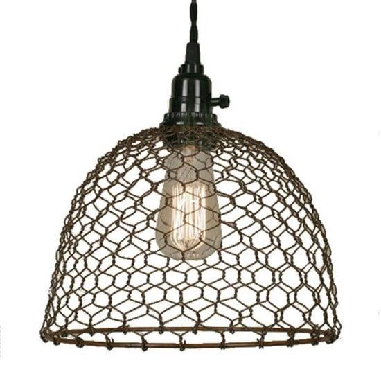 chicken-wire-dome-pendant-light