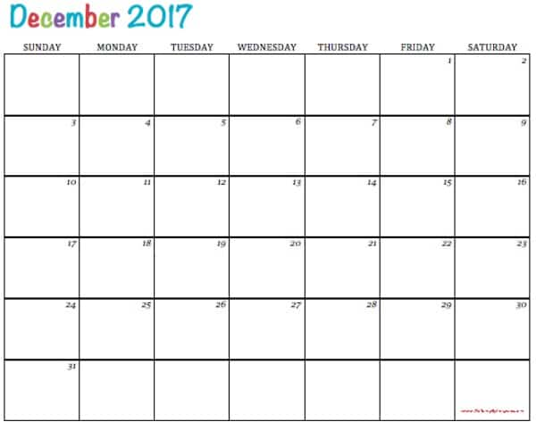 Free Printable 2017 Calendars To Simply Inspire – Printable Calendars