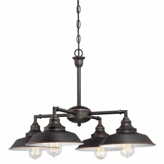 four-light-indoor-convertible-chandeliersemi-flush-ceiling-fixture-oil-rubbed-bronze-finish-with-highlights-and-metal-shades