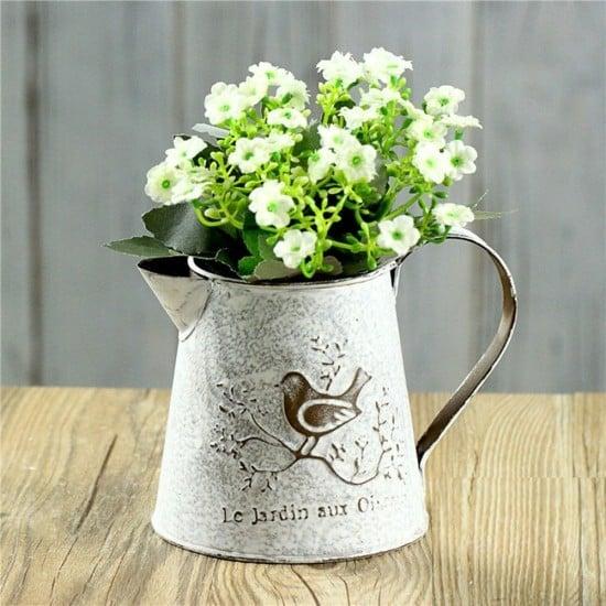 french-style-white-shabby-chic-mini-metal-pitcher-flower-vase