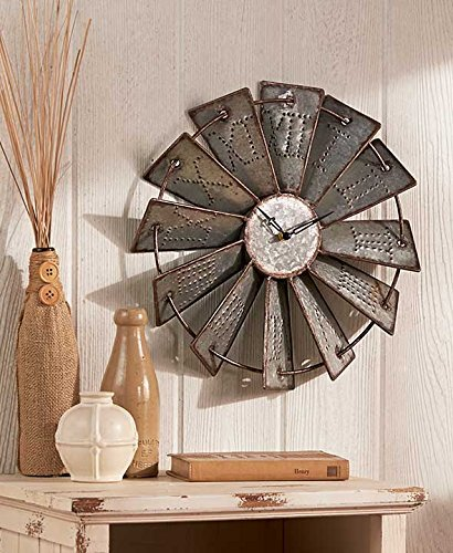 metal-windmill-wall-clock