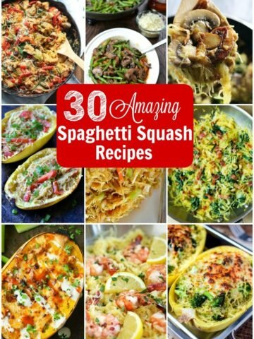 A bunch of different spaghetti squash recipes