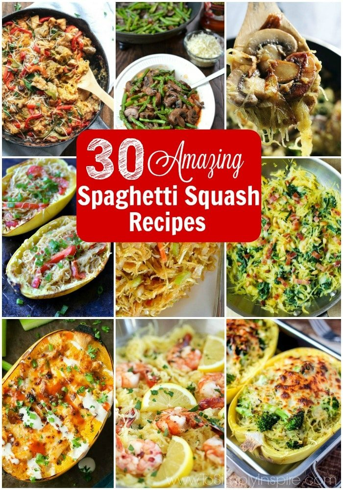 30 amazing spaghetti squash recipes to simply inspire for Things to do with spaghetti squash