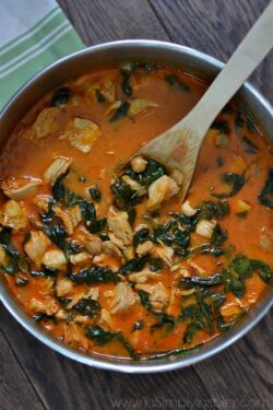 Curry Chicken and Chickpeas