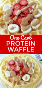 3 Ingredient Protein Waffle (One Carb)