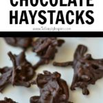 chocolate haystacks recipe on a white plate