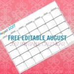 Free Printable Calendar August 2017