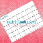 Free Printable Calendar June 2017