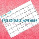 Free Printable Calendar November 2017