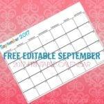 Free Printable Calendar September 2017