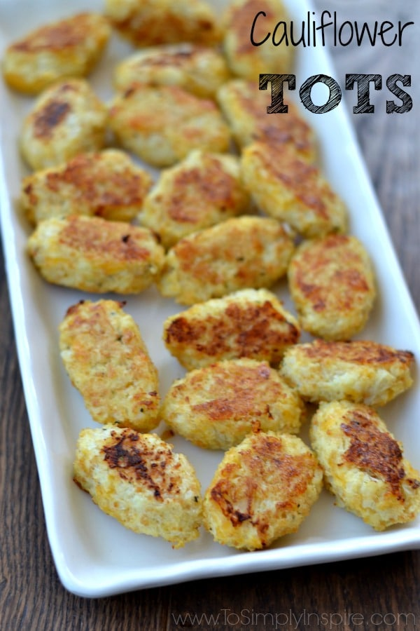 These Cauliflower Tots are the perfect low carb, healthy side dish or snack. They can easily be made gluten free as well.