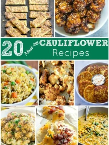 A bunch of different types of Cauliflower recipes