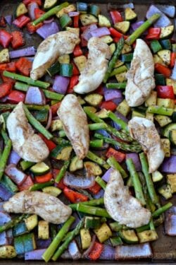 Sheet Pan Balsamic Chicken and Vegetables