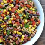 Cowboy Caviar recipe in a white bowl