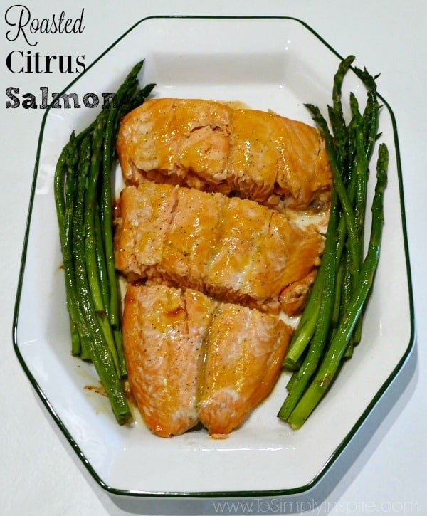 This Citrus Roasted Salmon is an delicious, elegant dish perfectly seasoned with orange and ginger that can be ready in less than 30 minutes.