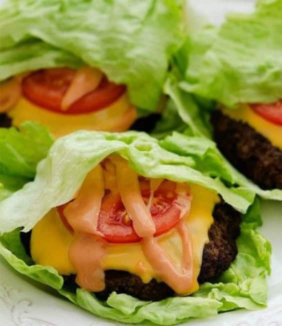 Cheeseburger Lettuce Wraps - Try any of these fresh and healthy lettuce wraps for a great low-carb alternative to bread.