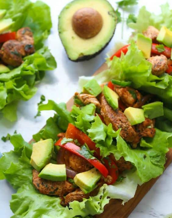 Chicken Fajita Lettuce Wraps-Try any of these fresh and healthy lettuce wraps for a great low-carb alternative to bread.