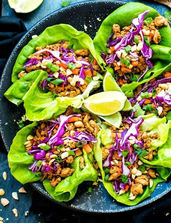 Ground Chicken Thai Lettuce Wraps -Try any of these fresh and healthy lettuce wraps for a great low-carb alternative to bread.