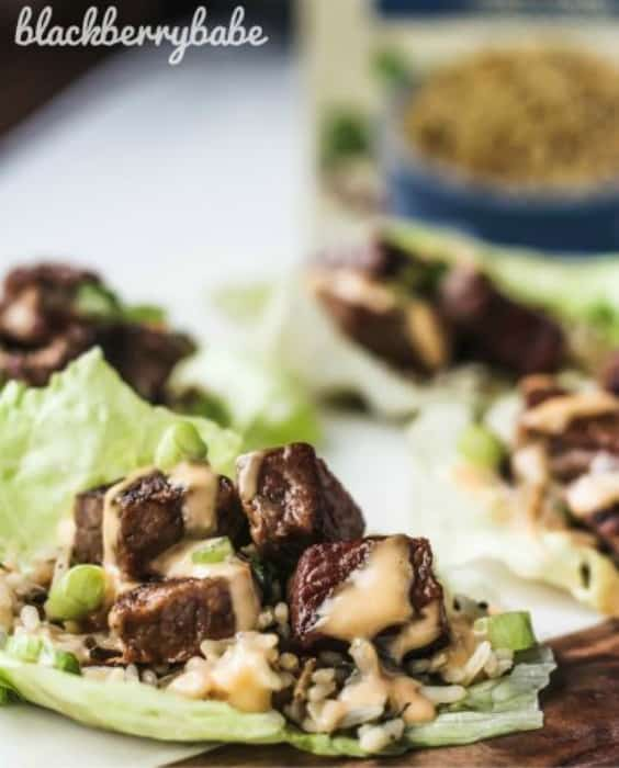 Hibachi Steak Lettuce Wraps Try any of these fresh and healthy lettuce wraps for a great low-carb alternative to bread.