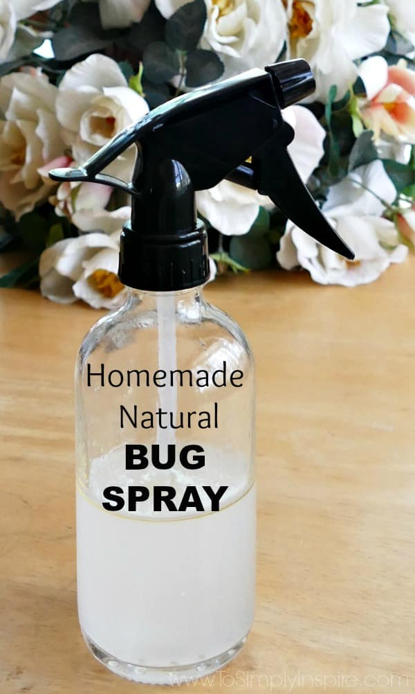 This Homemade Bug Spray will keep ticks, mosquitos, and other insects away so you can enjoy being outside without harmful chemicals.