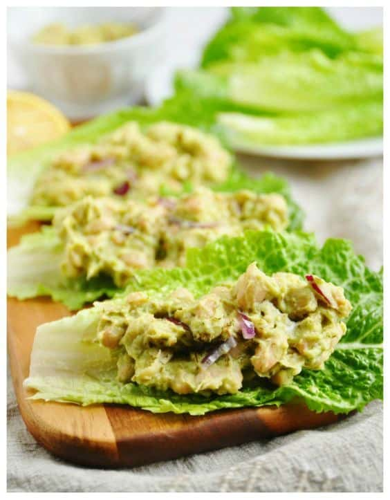 Mashed Avocado + White Bean Lettuce Wraps - Try any of these fresh and healthy lettuce wraps for a great low-carb alternative to bread.