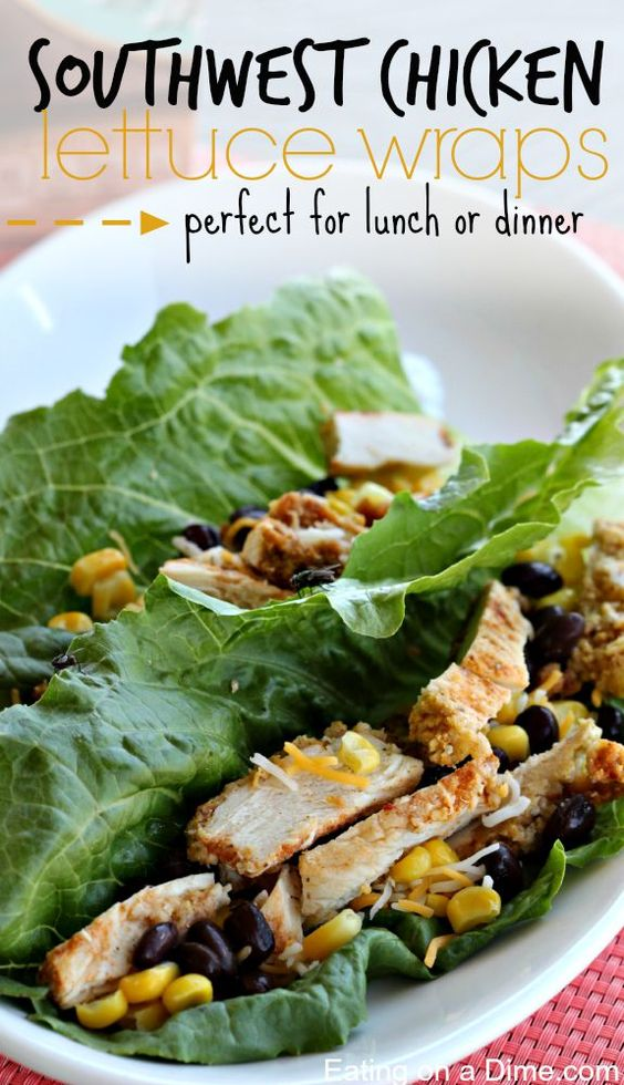 Southwest Chicken Lettuce Wraps - Try any of these fresh and healthy lettuce wraps for a great low-carb alternative to bread.