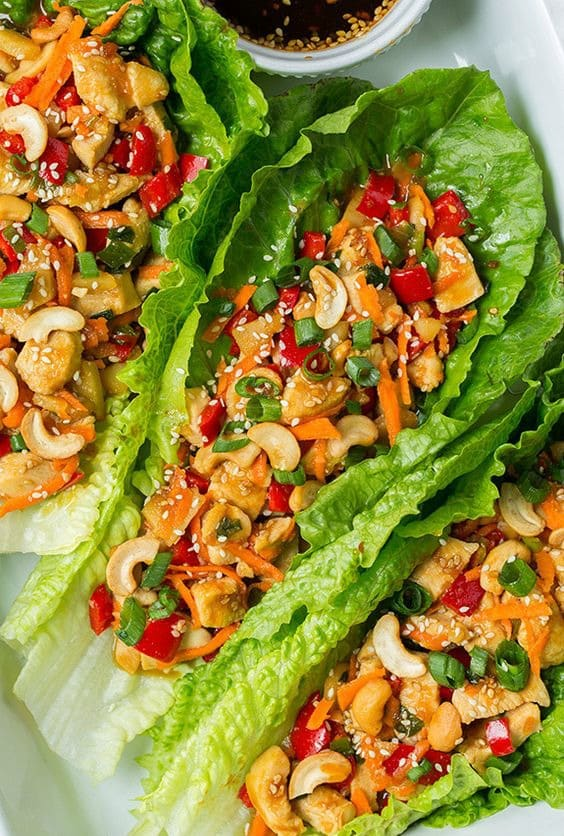 Teriyaki Chicken Lettuce Wraps - Try any of these fresh and healthy lettuce wraps for a great low-carb alternative to bread.