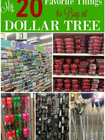 A display in a dollar store