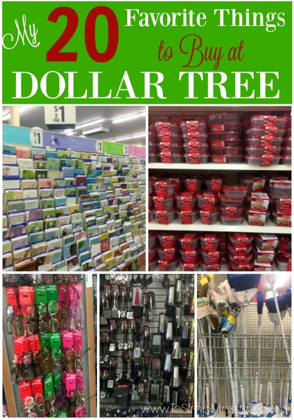 20 Favorite Things to Buy at Dollar Tree