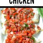 Grilled bruschetta chicken recipe