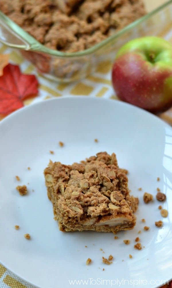 These Apple Oatmeal Crumb Bars scream Fall dessert and will melt in your mouth with each mouthwatering bite.