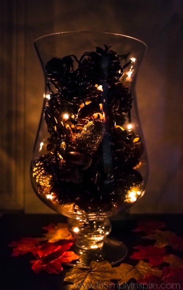 Diy Pine Cone Vase Filler With Fairy Lights To Simply Inspire