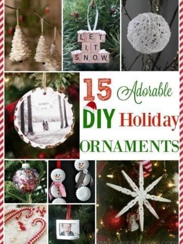 A bunch of DIY Holiday ornament ideas