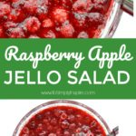 This festive, delicious Raspberry Apple Jello Salad is perfect for a holiday dinner or anytime you want something sweet but a little tart in your day. It's so, so good!!