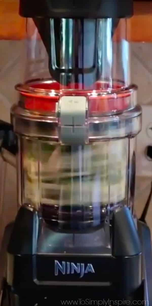 closeup of ninja spiralizer attachment