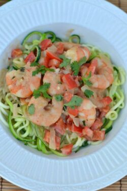 Shrimp Zoodles in Thai Coconut Sauce