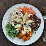 Sweet Potato, Arugula and Apple Quinoa Power Bowl with Honey Dijon Vinaigrette