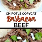 slow cooker Barbacoa Beef recipe in taco shells