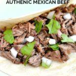 Barbacoa Recipe in a taco shell