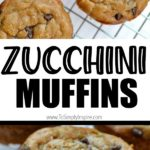 closeup of zucchini muffins on a cooling rack