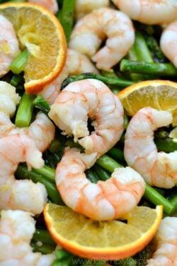 Orange Garlic Shrimp with Asparagus