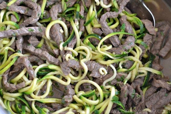 beef teriyaki zucchini noodles recipe