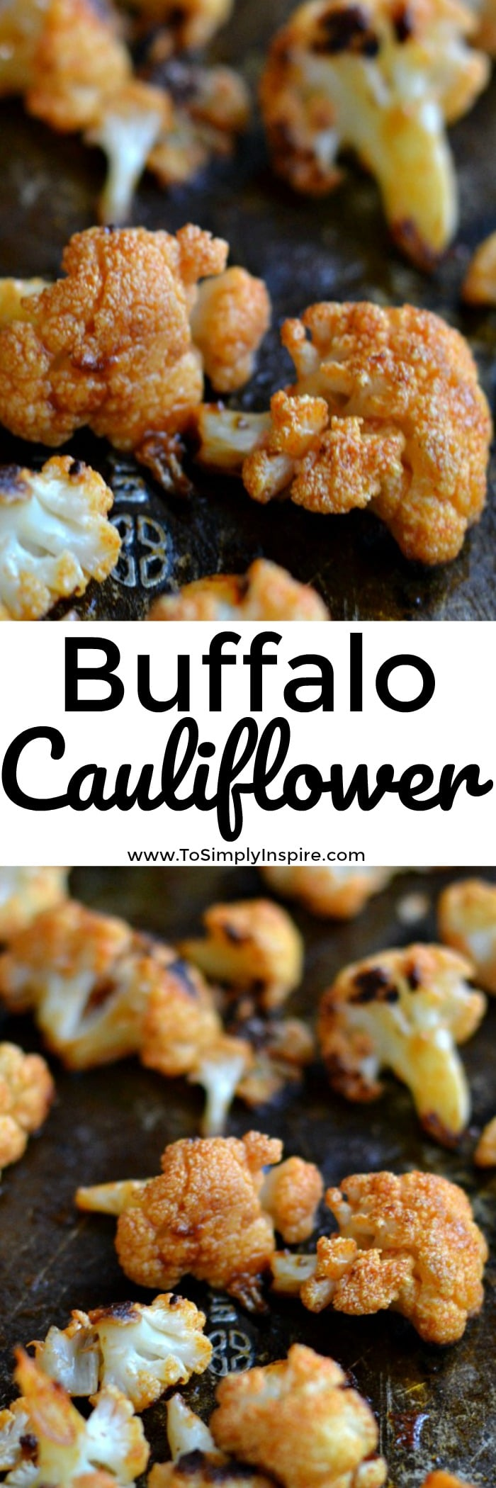 This oven-baked Buffalo Cauliflower is an easy, low-carb dish that are perfectly spiced. Serve them along side your favorite lean protein or as healthy appetizer with your favorite ranch or blue cheese dressing.