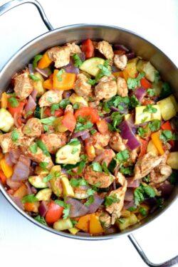 Mexican Chicken Zucchini Skillet