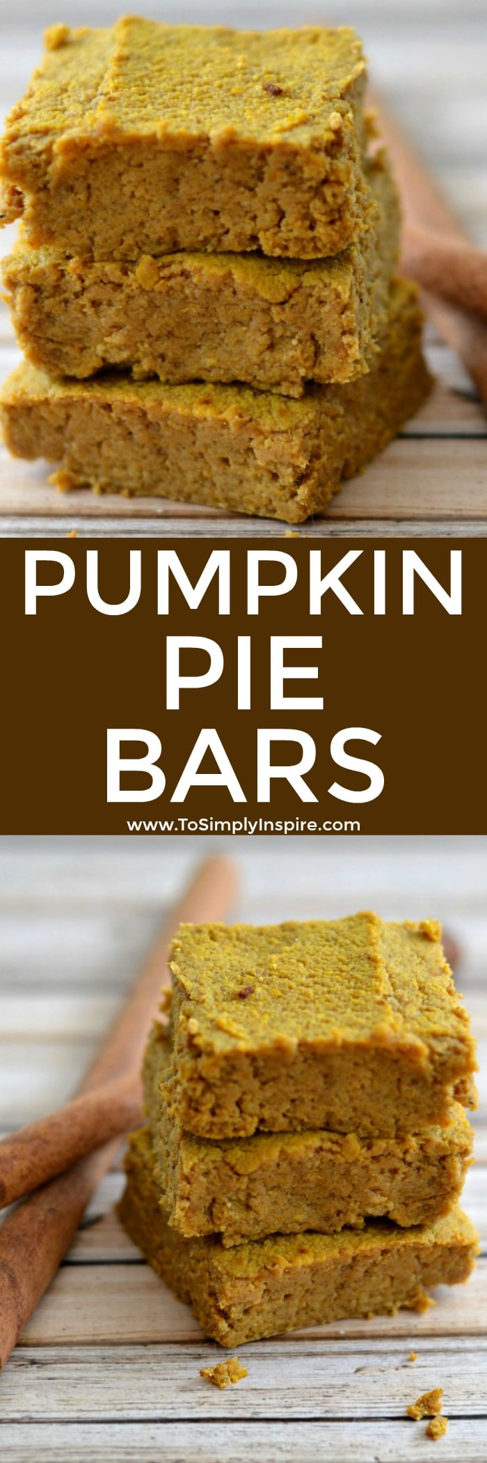 These Pumpkin Pie Bars are a wonderful, healthy dessert to make for any occasion. A grain-free version that is full of favorite pumpkin pie spices.