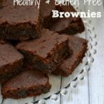 Healthy Gluten Free Brownies stacked on a plate