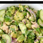 avocado, tuna and cucumber salad